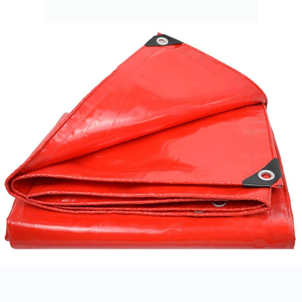 ターポリン、雨水不透過性のキャンバスレッドPVC、厚さ0.4mm、オプションのマルチサイズ(2.8x4.8m) (色 : Red, サイズ さいず : 4.8x5.8m) 4.8x5.8m Red B07K5CVNPJ