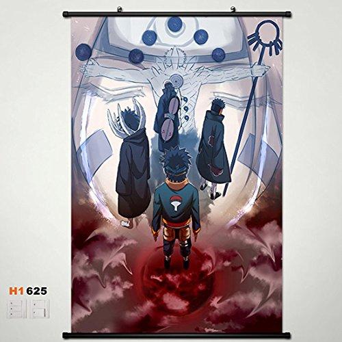 Home Decor Anime Naruto Sasuke Uchiha Obito Wall Scroll Poster Fabric Painting 23.6*35.4 625