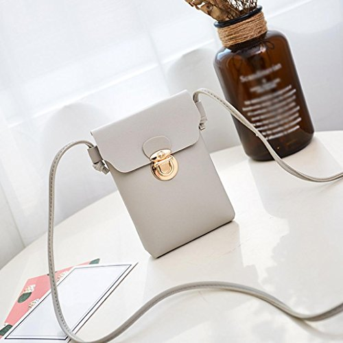 Cover Shoulder Bag Gray Coin Crossbody Solid Fashion Phone Bag Women Hasp Bag squarex wt1xF0q
