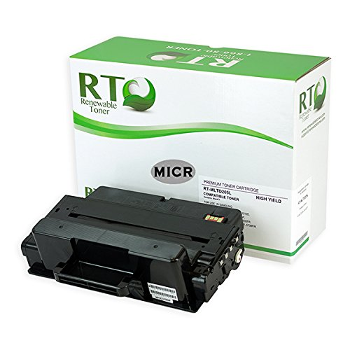 RT Samsung MLT-D205L MICR Toner Cartridge for Check Printing 5k High Yield for SCX-4833 4835FR 5637 5639FR 5737FW 5739FW ML-3310 3312 3710 3712 by Renewable Toner