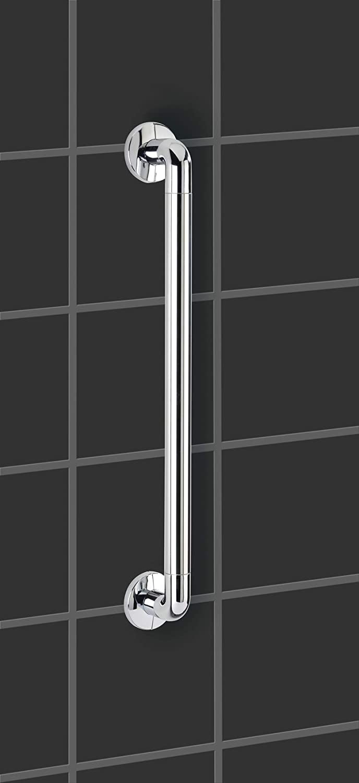 Badewanne und an der Toilette WENKO Wandhaltegriff Secura 43 cm lang stabiler Haltegriff zum Bohren f/ür sicheren Halt in Dusche 43 x 7 x 8 cm aus rostfreiem Aluminium /& Kunststoff Chrom
