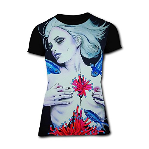 Underwater Fish Coral Womens Leisure T-Shirt 3D Printed Tee Top XXL