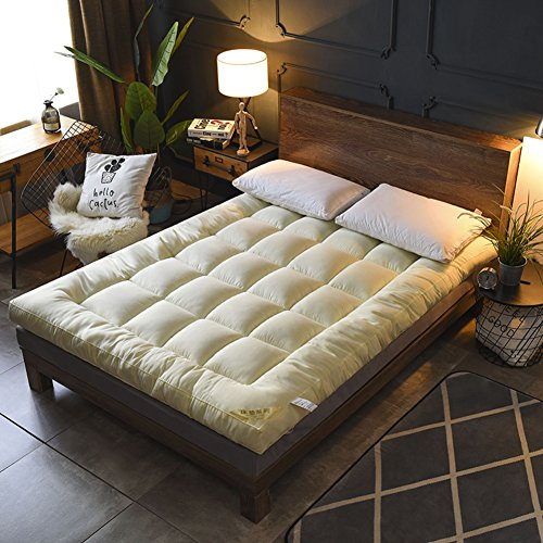 HYXL Foldable Thicken Floor mats Mattress,Anti-slip folding mat Down cotton Mattress Bed Tweezers Tatami bed pad Folding pad-C 90x200cm(35x79inch) by HYXL