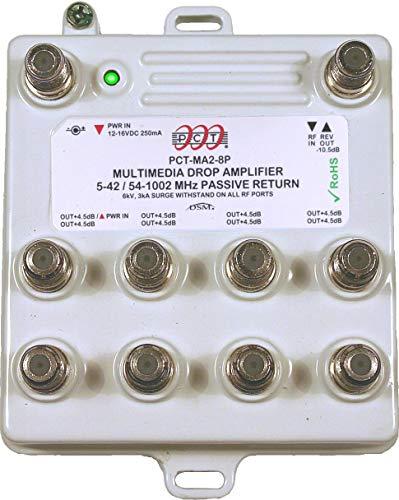 PCT MA28PN RF Amplifier Passive Return CATV Amp 8-Ports