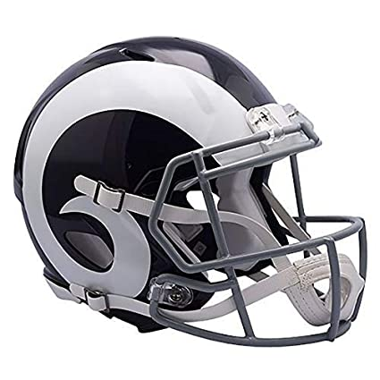 bc3e7d85 New Riddell Los Angeles Rams Officially Licensed Speed Full Size Deluxe  Replica Football Helmet