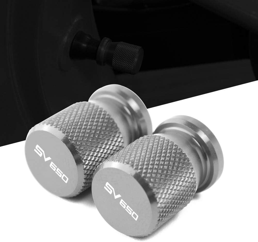 Lot de 2 Capuchon Bouchon de Valve dair Cache-poussi/ère Aluminium Motos Soupape de Roue Couvercles pour GSX R 125 150 GSXR 600 750 1000