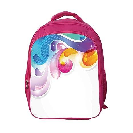 de92d5507c3f iPrint School Bags Kid's Backpacks Custom,Colorful Home Decor,Abstract Art  Splash Drops with