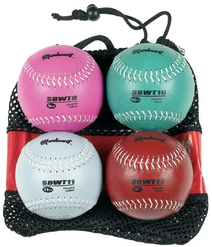Markwort 12-Inch Softball Weighted Set (9, 10 , 11 and 12 oz) SBWSET