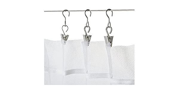 Ikea Riktig Stainless Steel Curtain Hook with Clip, 24 Count: Amazon.es: Bebé