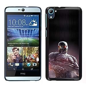 HTC Desire D826 - Metal de aluminio y de plástico duro Caja del teléfono - Negro - Crisis Future Soldier