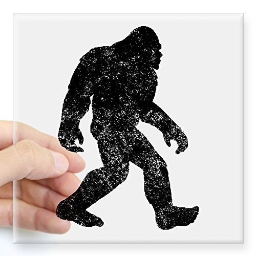 [CafePress - Bigfoot Silhouette Sticker - Square Bumper Sticker Car Decal, 3