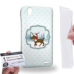 Case88 [Huawei Ascend G630] Gel TPU Carcasa/Funda & Tarjeta de garantía - Art Christmas Classics Christmas Rudolph Art1411