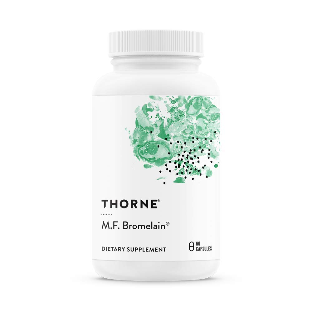 Thorne Research - M.F. Bromelain - Proteolytic (Protein-Digesting) Enzymes from Pineapple - 60 Capsules