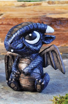 The Fiddlehead Fairy Garden Miniature Blue Dragon Fairy Garden Accessory #17282 For Sale