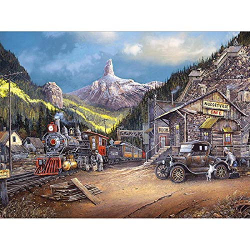 Yeefant Diamond Painting Sets by Numbers Kits for Adults, Full Drill 5D DIY Rhinestone Paintings Embroidery Cross Stitch Picture for Home Wall Decor Art Craft Supplies-30x40cm/Rural Farm -