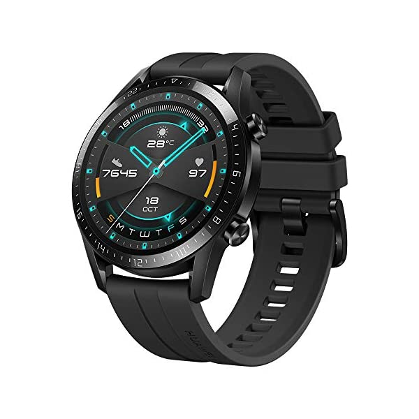 510XBry2AXL HUAWEI Watch GT 2 Sport (Matte Black, 46mm, 2 Weeks Battery, Music Playback, Answer Calls (with Phone Connection), 5ATM…