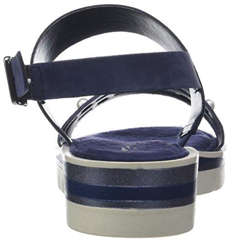 Tamaris Damen 28227 Slingback Sandali Blau (blu Marino / Blu Met.)
