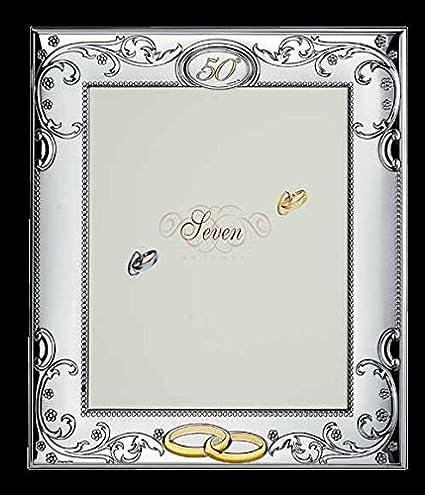 Marco Fotos 50 ° aniversario bodas GBG Linea Seven cm 13 x 18 banda ...