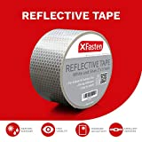 XFasten Reflective Tape, White and Silver, 2 Inches