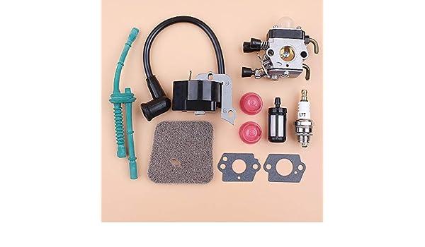 Carburador Bobina de encendido Filtro de aire Kit de manguera de ...