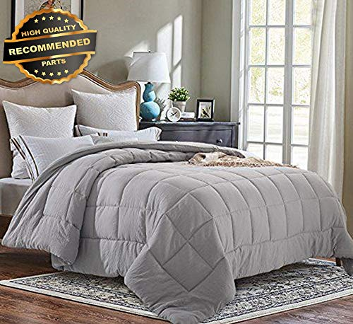 Gatton Premium New Pre Washed Ultra Soft Microfiber White Goose Down Altertive Comforter | Style Collection Comforter-311012549