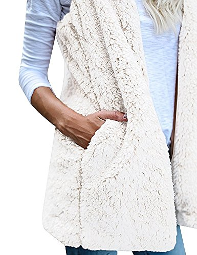 Printemps Cardigan Femmes Veste Minetom Sans Outwear Chaud Hoodie Manteau Gilet Poches Avec Hiver Manches Sherpa qtXpRFw