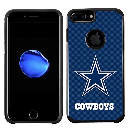 Cowboys Nfl Dallas Case (Prime Brands Group Cell Phone Case for Apple iPhone 8 Plus/iPhone 7 Plus/iPhone 6S Plus/iPhone 6 Plus - NFL Licensed Dallas Cowboys Textured Solid Color)
