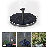 Mini Solar Floating Birdbath Fountain Solar-Powered Submersible Floating Pool Water Pump Floating Fountain Pond with Spraying Nozzle for Garden Plants Watering