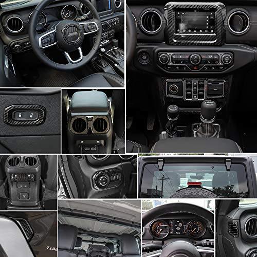 RT-TCZ Carbon Fiber Interior Decoration Trim Kit,Trim for 2018 Jeep Wrangler JL Unlimited (24PCS) by RT-TCZ (Image #3)