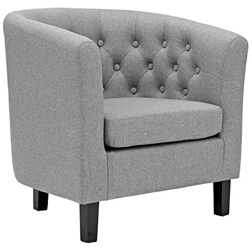 Modway  Prospect Upholstered Fabric Contemporary Modern Accent Arm Chair Light Gray