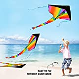 aGreatLife Rainbow Kite for Kids Easy to Fly in Low