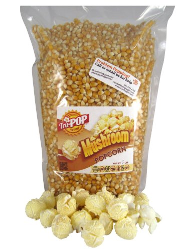Mushroom Popcorn Kernels 5 Lbs - Just Poppin Brand (Chocolate To Oil Ratio For Chocolate Fountain)