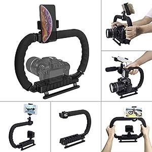 Hydra stabilizzatore DC+DV 2-hand Holder camera Steadycam staffa di montaggio presa della mano posizione bassa shooting… 4 spesavip