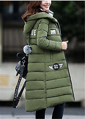 Verde Invierno Con Abrigos Largo Outewear Abrigo Plumas De Abajo Yogly  Capucha Mujer Chaquetas c7qTnOTU b2520fa7af13