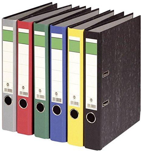 6 Stück Ordner A4 Farbset 6 Farben A4 50mm wolkenmarmor sortiert Büroordner Aktenordner