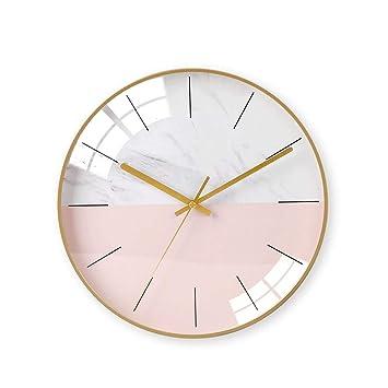 Relojes de pared Sala de Estar Reloj de Cuarzo Creativo Ultra-silencioso Tendencia multipropósito Personalidad Elegante Simple Dormitorio: Amazon.es: Hogar
