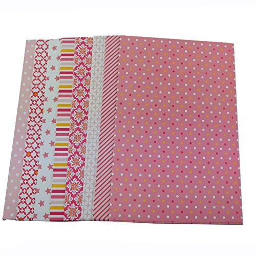 Bastelpapier Dekorpapier 1 kg Motivpapier A4 mit 8 verschiedenen Motiven (Auswahl 1)