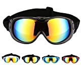Hi Kiss Dog Goggles Large Sunglasses UV Protection for Driving Cycling and Anti-Fog,Black