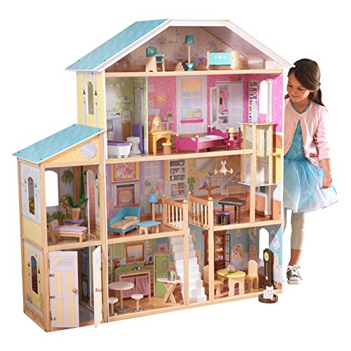 KidKraft Shimmer Mansion With 30 Pieces Of Accessories Puppenhäuser Girls Fantasy House New.
