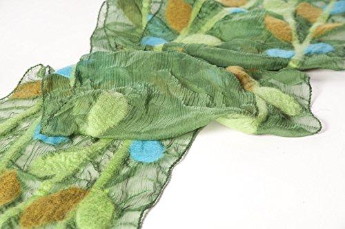 Leaf Scarf - Spring Green