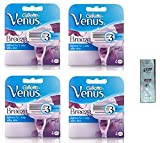 GlLLETTE Venus Breeze Refill Razor Blade Cartridges, 4 Count (Pack of 4) w/ Free Loving Care Conditioner Packette