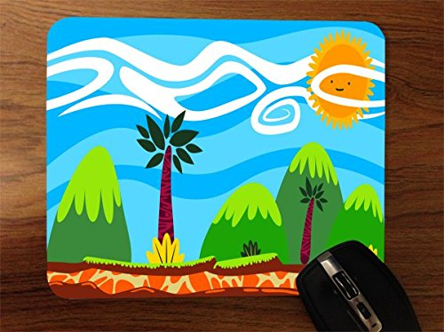 Pediatric Silicone (Fun Tropical Landscape Kids Desktop Office Silicone Mouse Pad by Moonlight Printing)
