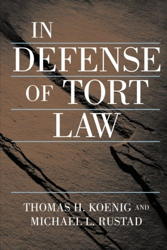 a review of the tort law Critical analysis of tort law in australia and overseas the tort law review is an indispensable publication that will keep you abreast of the developing nature of.