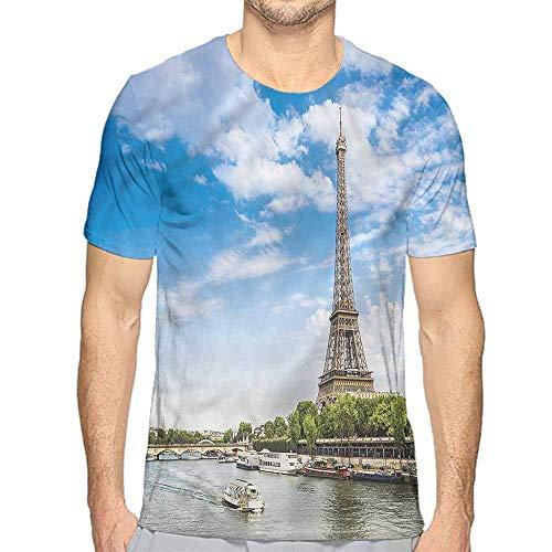 Comfort Colors t Shirt Eiffel Tower,Seine River Holiday t Shirt ()