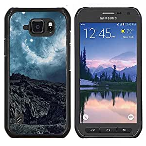 """Be-Star Único Patrón Plástico Duro Fundas Cover Cubre Hard Case Cover Para Samsung Galaxy S6 active / SM-G890 (NOT S6) ( Paisaje abstracto Planet"""" )"""