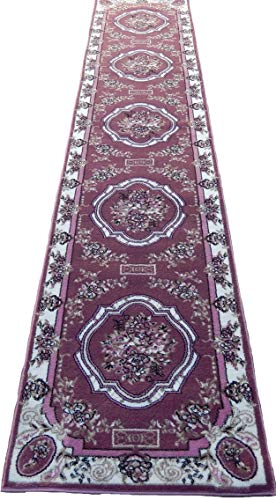 Persian Floral Rosas 3x12 Area Rug Runner Pink Green Cream Actual Size 2'3 x 12'