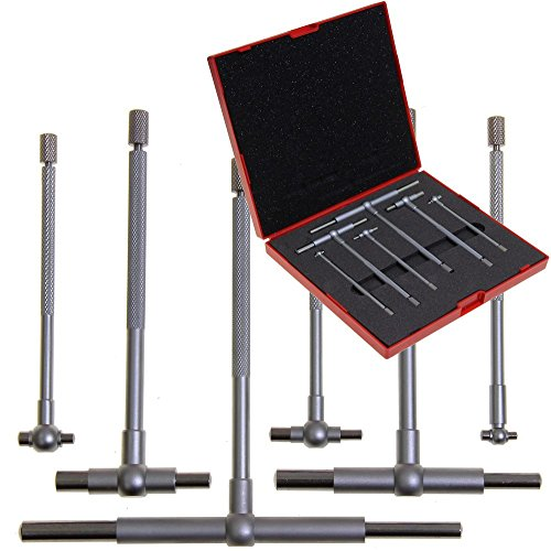 Anytime Tools Bore Gauge 6 pc 5/16'-6' Premium Telescopic High Precision T-Gage Set w/Hard Shell Case