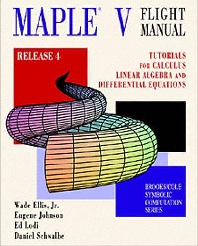 maple v flight manual release 4 tutorials for calculus linear rh amazon com CRJ-200 Flight Manual Flight Instruction Manual