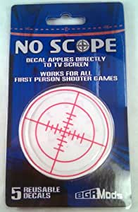 Reusable No Scope Screen Decal for First Person Shooter FPS Games PS3 XBOX 360 PS2