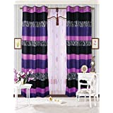 crest home design curtains. Mk Collection 2 Panel Curtains Teens girls Zebra Leopard Purple Pink White  Black by MK Home Amazon com Floral Draperies Window Treatments